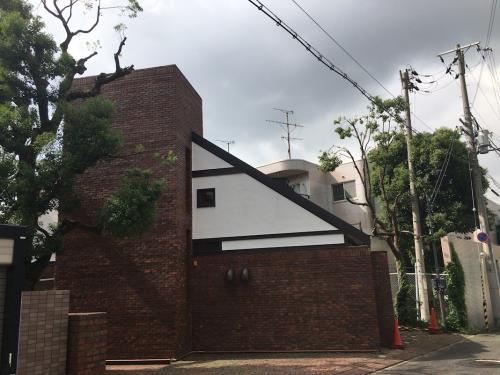 Exterior of house designed by Tadao Ando
